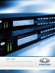 Brochure DSP 260 - Dynacord