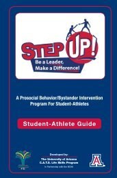 STEP UP! Student Athlete Guide - University of Arizona Athletics