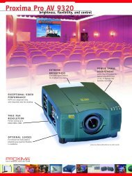 Proxima Pro AV 9320 - Projectors from ProjectorPoint
