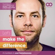 Make the Difference - a manifesto to end homelessness