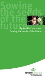 Sowing the seeds of the future - Agropolis