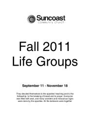 Fall_2011 _LG_directory - Suncoast Community Church