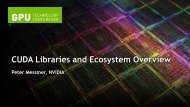 CUDA Libraries and Ecosystem Overview - GPU Technology ...