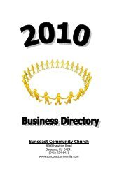 business directory 2010 - Suncoast Community Church