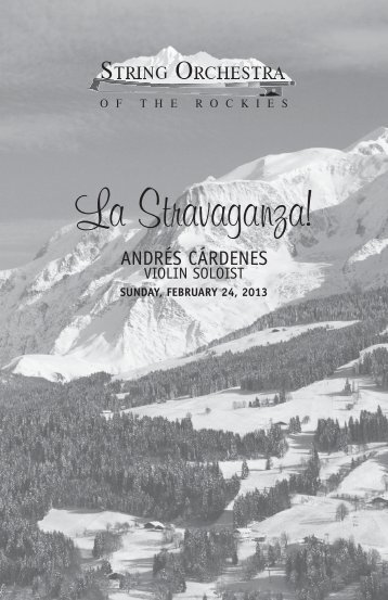 La Stravaganza! - String Orchestra of the Rockies