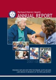 Portland District Health Annual Report 2008 - South West Alliance of ...