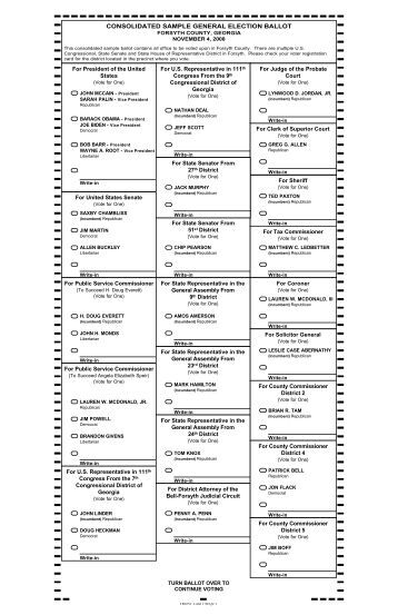 official ballot general election jennings county, indiana