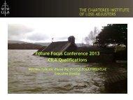 Future Focus Conference 2013 CILA Qualifications - CILA/The ...