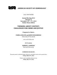 2012 Annual Meeting Call for Papers - American Society of ...