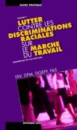 Lutter contre les discriminations raciales sur le marché du travail ...