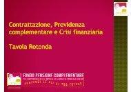 Introduzione Tavola Rotonda - Fondo Pegaso