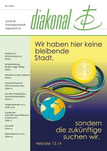 Journal der Diakoniegemeinschaft Stephansstift e.V.