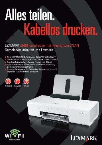 LEXMARK Z1420 Farbdrucker mit integriertem WLAN Gemeinsam ...