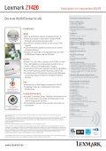 LEXMARK Z1420 Farbdrucker mit integriertem WLAN Gemeinsam ... - Seite 2
