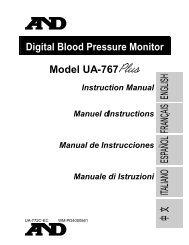 Digital Blood Pressure Monitor Model UA-767 - PMS (Instruments) Ltd