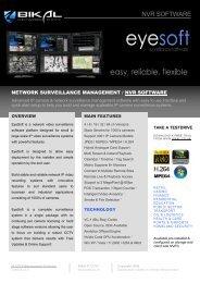 EyeSoft NVR Software for IP Cameras - Bikal