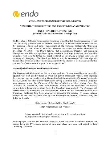Stock Ownership Guidelines PDF - Endo Pharmaceuticals