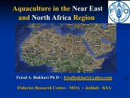 Aquaculture in the Near East and North Africa ... - Middle East - OIE