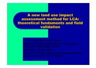A new land use impact assessment method for LCA ... - LCAfood.dk