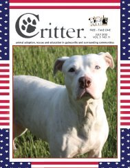 ALL PAGES-16-PAGE LAYOUT-JULY 2012 - Critter Magazine
