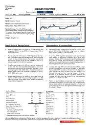 Malayan Flour Mills - i3investor.com