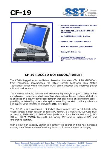 CF-19 RUGGED NOTEBOOK/TABLET - API Technologies