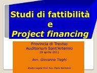Studio di fattibilità e project financing - Provincia di Treviso