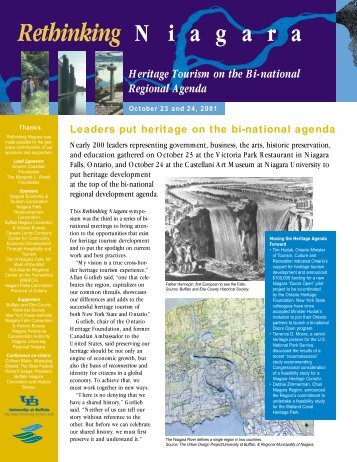 Rethinking Niagara: Heritage Tourism on the Bi ... - Waterfront Trail