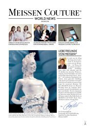 MEISSEN COUTURE World News - Januar 2015