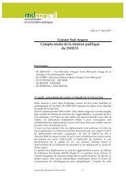 Liaison Sud Angers Compte-rendu de la réunion publique du 29/02/11