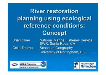 River restoration planning using ecological reference conditions ...