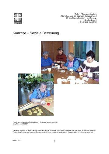 Konzept – Soziale Betreuung - Caritasheim St. Georg