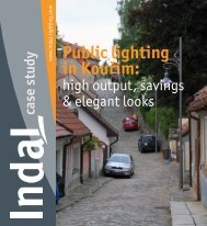 case study Public lighting in Kouřim - Indal