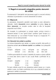 5. Reguli si conventii ortografice pentru denumiri de unitati - UTM