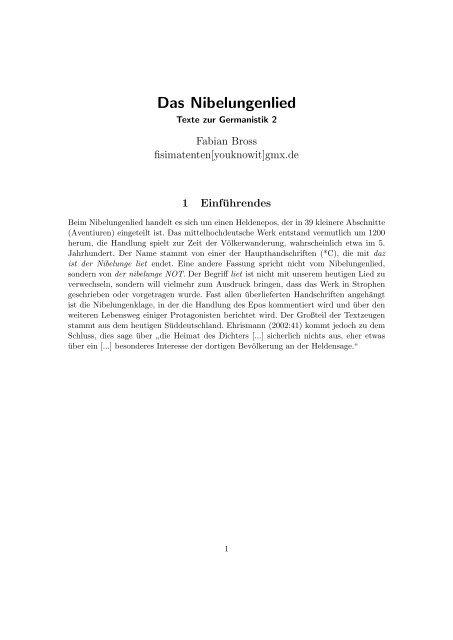 Das Nibelungenlied Pdf