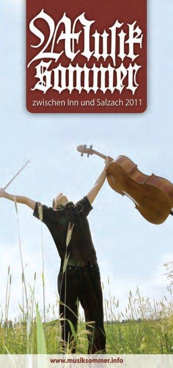 Programmheft 2011 - Musiksommer zwischen Inn und Salzach