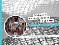 Producción de aceite de coco en La Barra