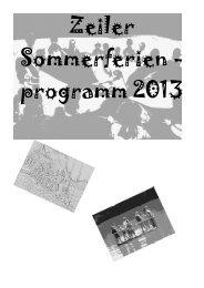 Ferienprogramm - Stadt Zeil a. Main