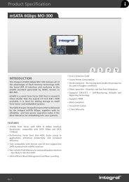Download PDF Spec Sheet - Integral Memory PLC