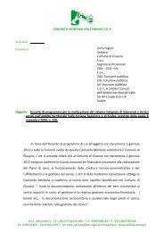Oggetto: Accordo di programma per la realizzazione del sistema ...