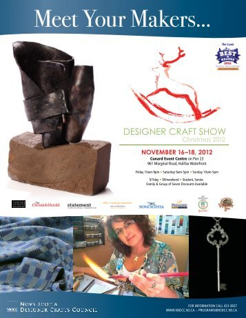 Meet Your Makers... - Nova Scotia Designer Crafts Council