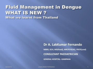 Dr A. LakKumar Fernando