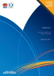 Slashers: A guide on health and safety standards