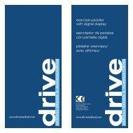 exercise peddler with digital display ejercitador de ... - Drive Medical