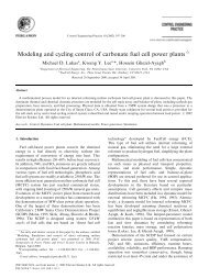 Modeling and cycling control of carbonate fuel cell power plants - ECS