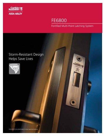 FE6800 Catalog - Corbin Russwin