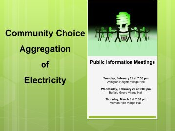 Aggregation of Electricity - Village of Arlington Heights