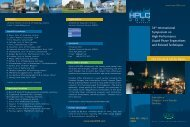 Call for Papers - HPLC 2009