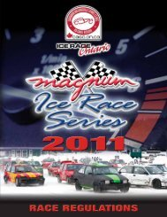 2011 Ice Racing Regulations - CASC, Ontario Region