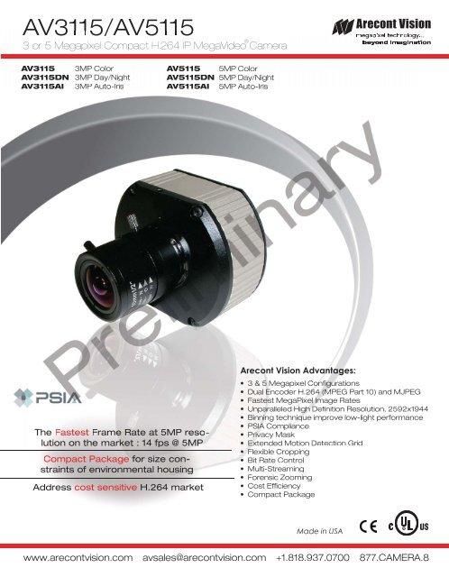 ARECONT VISION AV5115AI IP CAMERA WINDOWS 8 DRIVERS DOWNLOAD